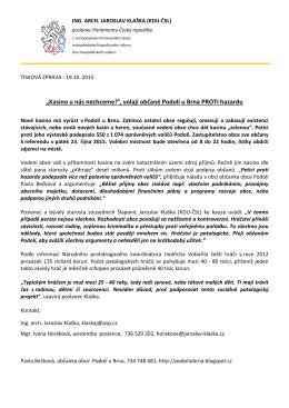 TZ 19.10. 2015 Referendum o stavbě kasina v Podolí u Brna