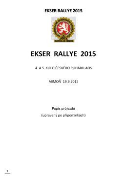 ekser rallye 2015