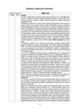 Výklady - předpis SŽDC D3