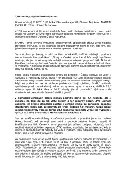 Lidových novinách - IDEA - Cerge-ei