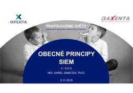 OBECNÉ PRINCIPY SIEM