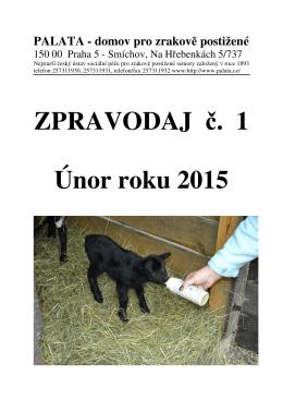 ZPRAVODAJ . 1 Únor roku 2015