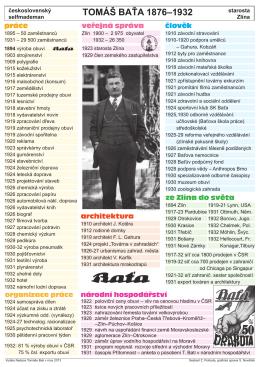 TOMÁŠ BAŤA 1876–1932