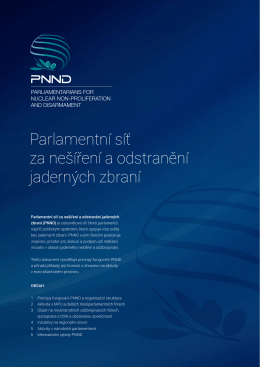 Parlamentní síť za nešíření a odstranění jaderných