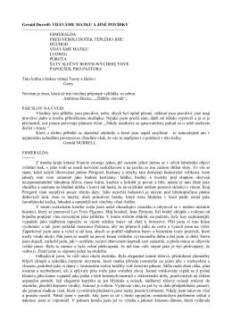 Gerald Durrell: VDÁVÁME MATKU A JINÉ POVÍDKY