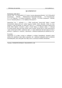 Informace pro pacienta www.epitesty.cz QUATERNIUM 15