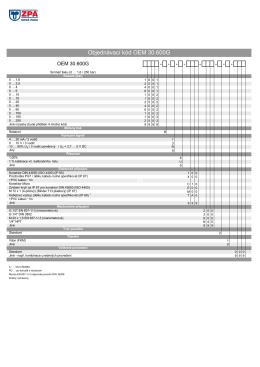 2) Objednací kódy 30.600G