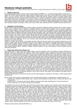 Nákupní, dodací a platební podmímky společnosti Betonbau GmbH