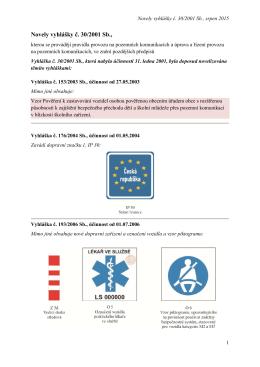 Novely vyhlášky č. 30/2001 Sb.,