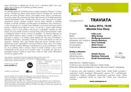 Program Traviata - Kultura Slaný a Slánsko