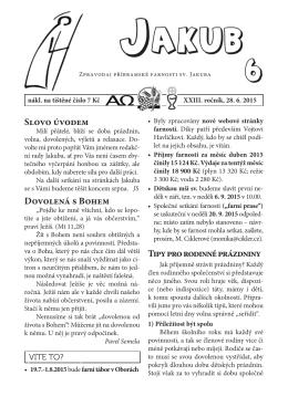 Jakub 2015/6 - Římskokatolická farnost sv. Jakuba