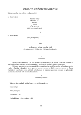 PDF - Nájemní smlouva