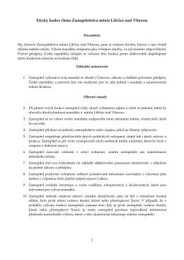 Etického kodexu zastupitele