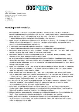 Pravidla pro dobrovolníky