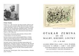 list k výstavě - Galerie Jiřího Jílka