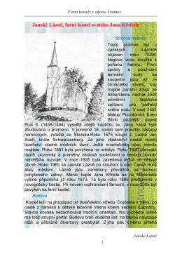 Janské Lázně, farní kostel svatého Jana Křtitele