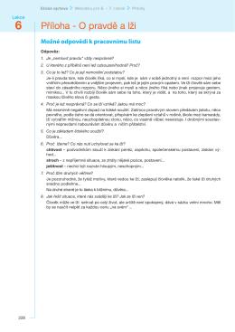 Lekce PRAVDA a LEŽ přílohy – PDF
