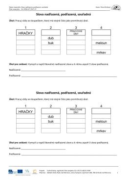 EU-OPVK-ICT-Č1ST-27_Slova nadřazená, podřazená