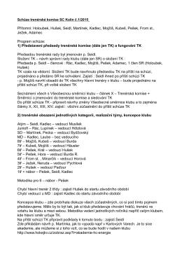 Přítomni: Holoubek, Hušek, Seidl, Martínek, Kadlec