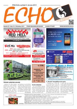 Příští Echo vychází 5. června 2015