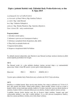 8.10.2015 - základní škola Praha – Kolovraty