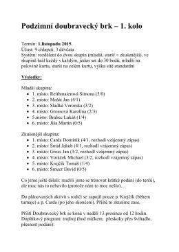 Výsledky - TJ Sokol Doubravka