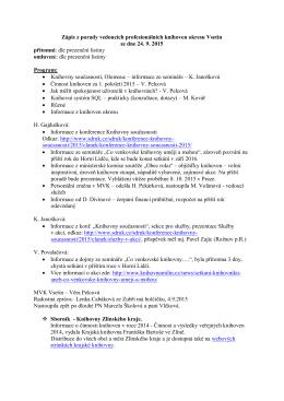 Zápis z porady ze dne 24.9. 2015
