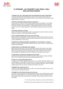 10 zpusobu, jak podporit svou zenu v roli nevlastniho rodice