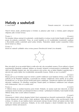 Hvězdy a souhvězdí