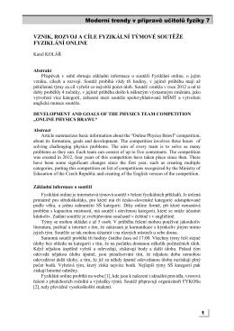 Moderní trendy v přípravě učitelů fyziky 6