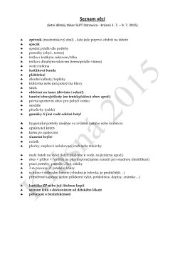 Seznam věcí