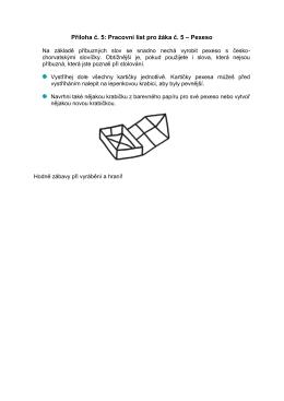 Příloha č. 5: Pracovní list pro žáka č. 5 – Pexeso