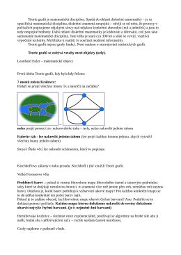 Teorie grafů je matematická disciplína. Spadá do oblasti