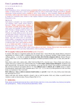 Úterý (3.3.2015) - Farnost Malenovice