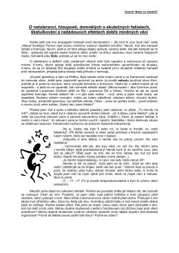 O netoleranci - Milan Sýkora