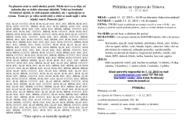 Přihláška na výpravu do Tišnova