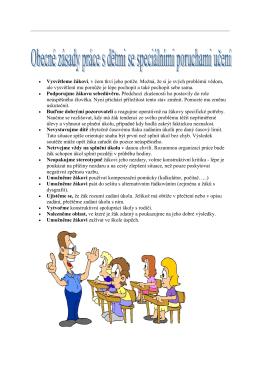 Obecné zásady práce s dětmi spec. poruch. učení