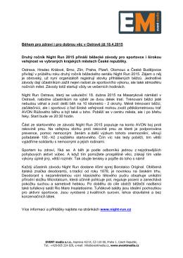 Během pro zdraví i pro dobrou věc v Ostravě již 18.4.2015