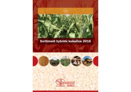 Sortiment hybridů kukuřice 2016
