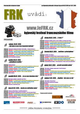 Program 2015 - Francouzská restaurace Kyjov