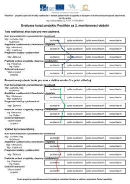 Evaluace kurzů projektu Postilión