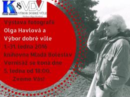 Výstava fotografií Olga Havlová a Výbor dobré vůle od 1.