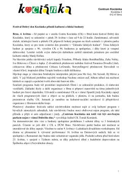Tisková zpráva - Dobrý den Kociánko