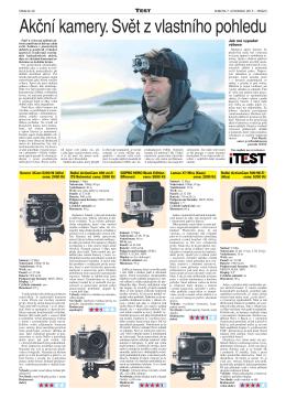 Akční kamery. Svět z vlastního pohledu