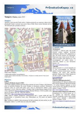 Tampere, Finsko, srpen 2015 Tampere Doprava: Co musíte vidět
