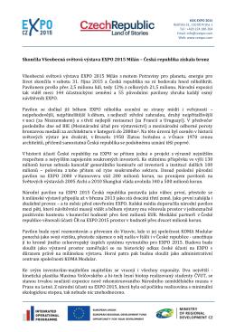 Skončila Všeobecná světová výstava EXPO 2015 Milán – Česká