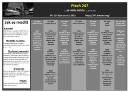 Plzeň 247 Jak se modlit