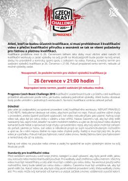Handbook - Czechbeast Challenge 2015