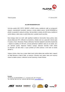 Tisková zpráva 17. června 2015 ALCAR ROADSHOW 2015 Litá