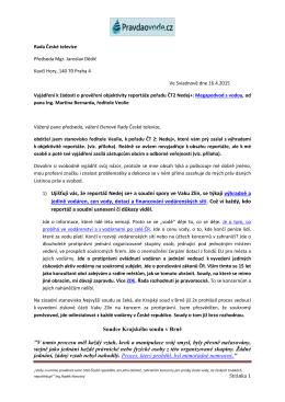 1) Ujišťuji vás, že reportáž Nedej se+ a soudní spory - logo TZB-info